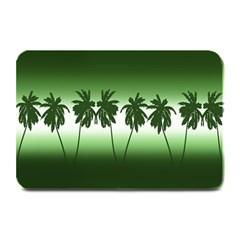 Tropical Sunset Plate Mats by Valentinaart