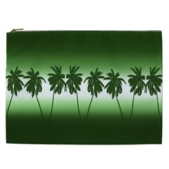 Tropical Sunset Cosmetic Bag (xxl)  by Valentinaart