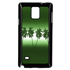 Tropical Sunset Samsung Galaxy Note 4 Case (black) by Valentinaart