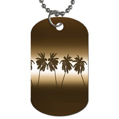 Tropical Sunset Dog Tag (two Sides) by Valentinaart