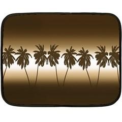 Tropical Sunset Fleece Blanket (mini) by Valentinaart