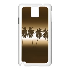 Tropical Sunset Samsung Galaxy Note 3 N9005 Case (white) by Valentinaart