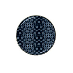 Hexagon1 Black Marble & Blue Colored Pencil Hat Clip Ball Marker (4 Pack) by trendistuff
