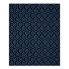 Hexagon1 Black Marble & Blue Colored Pencil Shower Curtain 60  X 72  (medium) by trendistuff
