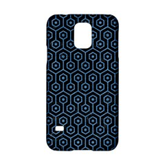 Hexagon1 Black Marble & Blue Colored Pencil Samsung Galaxy S5 Hardshell Case  by trendistuff