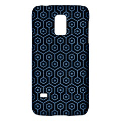 Hexagon1 Black Marble & Blue Colored Pencil Samsung Galaxy S5 Mini Hardshell Case  by trendistuff