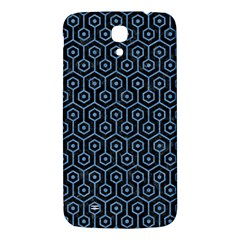 Hexagon1 Black Marble & Blue Colored Pencil Samsung Galaxy Mega I9200 Hardshell Back Case by trendistuff