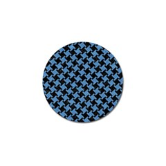 Houndstooth2 Black Marble & Blue Colored Pencil Golf Ball Marker (10 Pack) by trendistuff