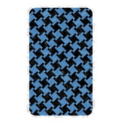 Houndstooth2 Black Marble & Blue Colored Pencil Memory Card Reader (rectangular) by trendistuff