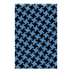 Houndstooth2 Black Marble & Blue Colored Pencil Shower Curtain 48  X 72  (small) by trendistuff