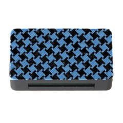 Houndstooth2 Black Marble & Blue Colored Pencil Memory Card Reader With Cf by trendistuff