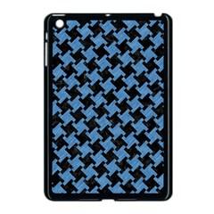Houndstooth2 Black Marble & Blue Colored Pencil Apple Ipad Mini Case (black) by trendistuff