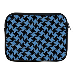 Houndstooth2 Black Marble & Blue Colored Pencil Apple Ipad Zipper Case by trendistuff