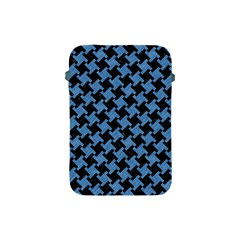 Houndstooth2 Black Marble & Blue Colored Pencil Apple Ipad Mini Protective Soft Case by trendistuff