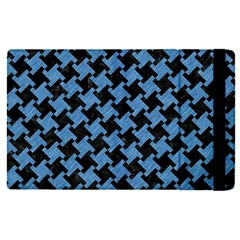 Houndstooth2 Black Marble & Blue Colored Pencil Apple Ipad Pro 12 9   Flip Case by trendistuff