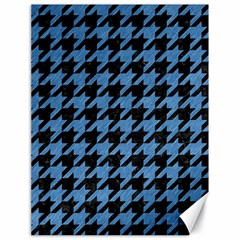 Houndstooth1 Black Marble & Blue Colored Pencil Canvas 18  X 24  by trendistuff