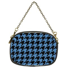 Houndstooth1 Black Marble & Blue Colored Pencil Chain Purse (one Side) by trendistuff