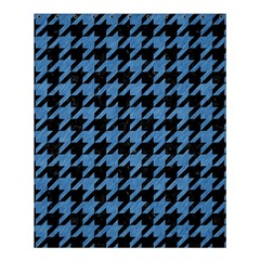 Houndstooth1 Black Marble & Blue Colored Pencil Shower Curtain 60  X 72  (medium) by trendistuff