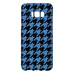 Houndstooth1 Black Marble & Blue Colored Pencil Samsung Galaxy S8 Plus Hardshell Case  by trendistuff