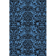 Damask2 Black Marble & Blue Colored Pencil (r) 5 5  X 8 5  Notebook by trendistuff