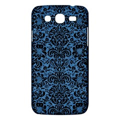 Damask2 Black Marble & Blue Colored Pencil (r) Samsung Galaxy Mega 5 8 I9152 Hardshell Case  by trendistuff