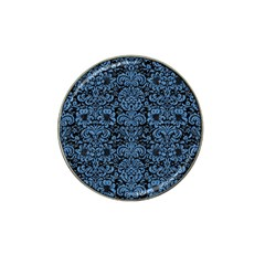 Damask2 Black Marble & Blue Colored Pencil Hat Clip Ball Marker (4 Pack) by trendistuff