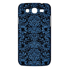 Damask2 Black Marble & Blue Colored Pencil Samsung Galaxy Mega 5 8 I9152 Hardshell Case  by trendistuff