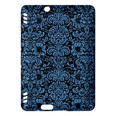 Damask2 Black Marble & Blue Colored Pencil Kindle Fire Hdx Hardshell Case by trendistuff