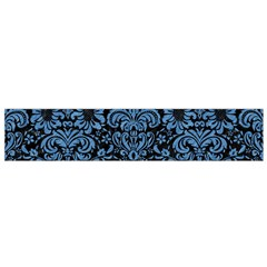 Damask2 Black Marble & Blue Colored Pencil Flano Scarf (small) by trendistuff