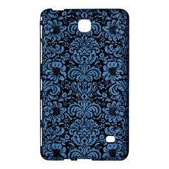 Damask2 Black Marble & Blue Colored Pencil Samsung Galaxy Tab 4 (8 ) Hardshell Case  by trendistuff