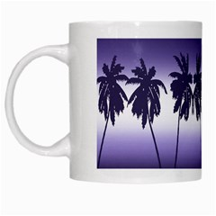 Tropical Sunset White Mugs by Valentinaart