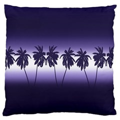 Tropical Sunset Large Flano Cushion Case (two Sides) by Valentinaart
