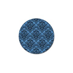 Damask1 Black Marble & Blue Colored Pencil (r) Golf Ball Marker (4 Pack) by trendistuff