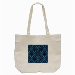 Damask1 Black Marble & Blue Colored Pencil (r) Tote Bag (cream) by trendistuff