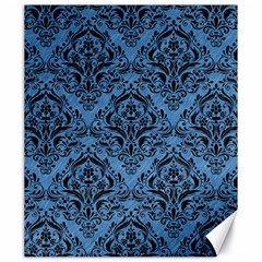 Damask1 Black Marble & Blue Colored Pencil (r) Canvas 20  X 24  by trendistuff