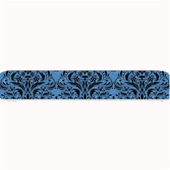 Damask1 Black Marble & Blue Colored Pencil (r) Small Bar Mat by trendistuff
