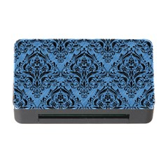 Damask1 Black Marble & Blue Colored Pencil (r) Memory Card Reader With Cf by trendistuff