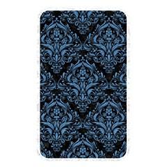 Damask1 Black Marble & Blue Colored Pencil Memory Card Reader (rectangular) by trendistuff