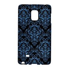 Damask1 Black Marble & Blue Colored Pencil Samsung Galaxy Note Edge Hardshell Case by trendistuff
