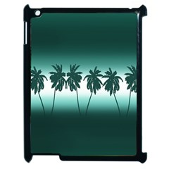 Tropical Sunset Apple Ipad 2 Case (black) by Valentinaart