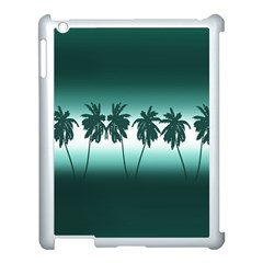 Tropical Sunset Apple Ipad 3/4 Case (white) by Valentinaart