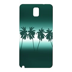 Tropical Sunset Samsung Galaxy Note 3 N9005 Hardshell Back Case by Valentinaart