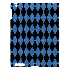 Diamond1 Black Marble & Blue Colored Pencil Apple Ipad 3/4 Hardshell Case by trendistuff