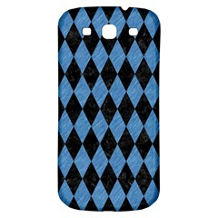 Diamond1 Black Marble & Blue Colored Pencil Samsung Galaxy S3 S Iii Classic Hardshell Back Case by trendistuff