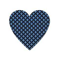 Circles3 Black Marble & Blue Colored Pencil (r) Magnet (heart) by trendistuff