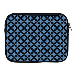 Circles3 Black Marble & Blue Colored Pencil (r) Apple Ipad Zipper Case by trendistuff