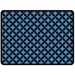 Circles3 Black Marble & Blue Colored Pencil (r) Double Sided Fleece Blanket (large) by trendistuff