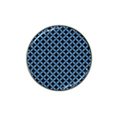 Circles3 Black Marble & Blue Colored Pencil Hat Clip Ball Marker by trendistuff