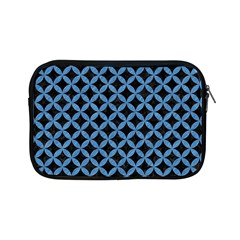 Circles3 Black Marble & Blue Colored Pencil Apple Ipad Mini Zipper Case by trendistuff