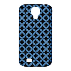Circles3 Black Marble & Blue Colored Pencil Samsung Galaxy S4 Classic Hardshell Case (pc+silicone) by trendistuff